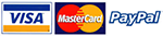 Pay with Visa, Mastercard or Paypal